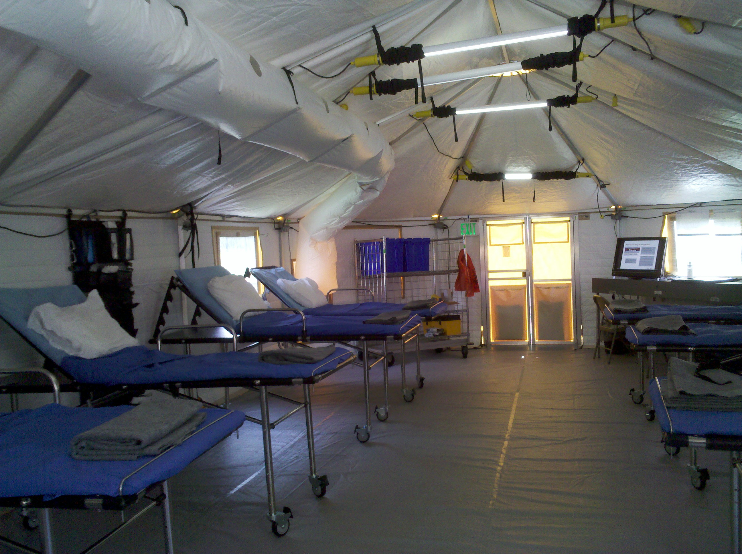 Emergency Tent Shelter Lighting For Disaster Relief